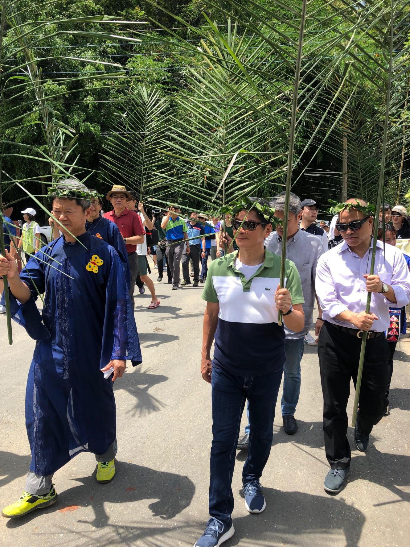 客委會李主委與大家一起參與「2019第二十二屆美濃黃蝶祭」活動。1