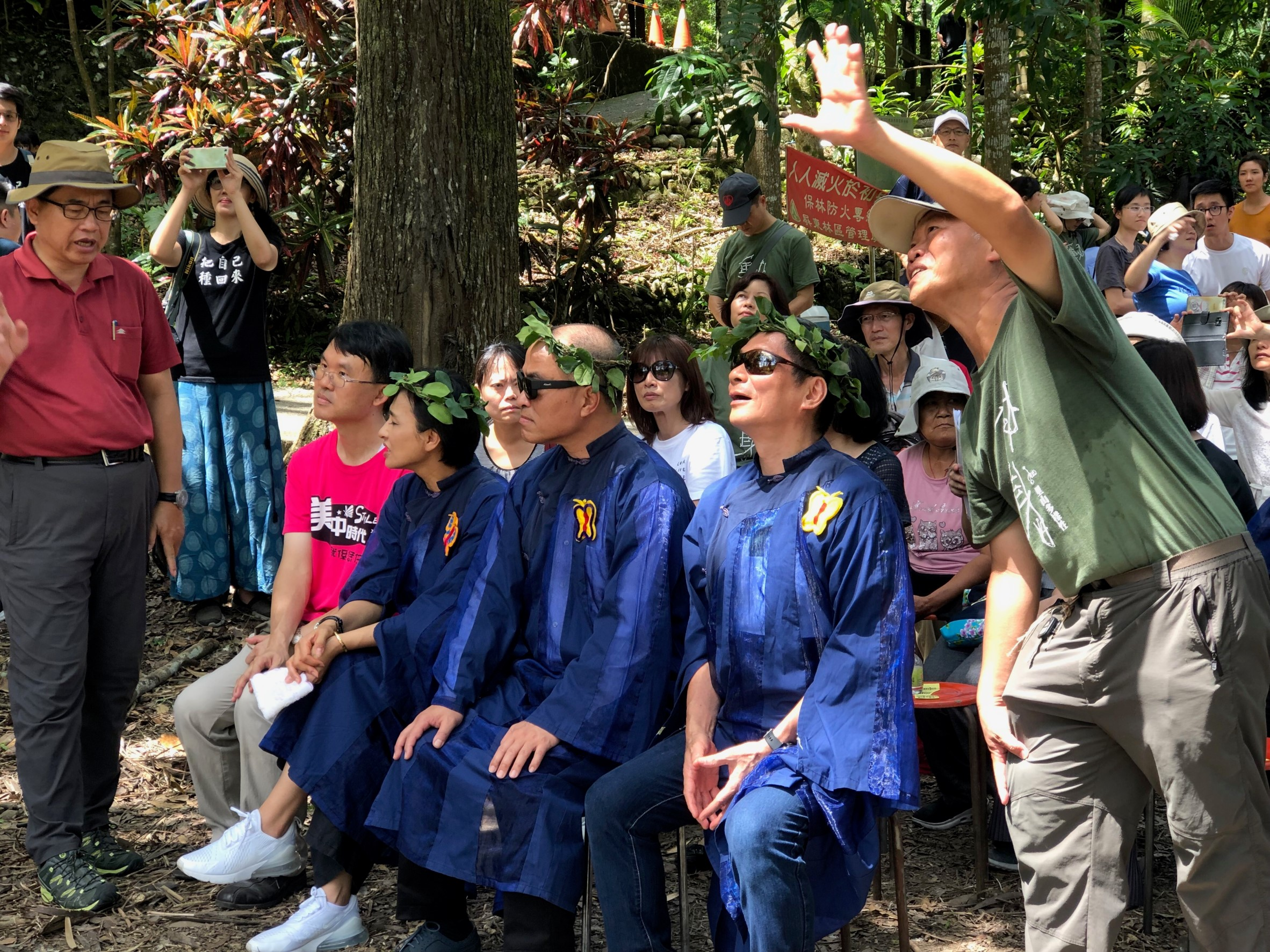 客委會李主委與大家一起參與「2019第二十二屆美濃黃蝶祭」活動。