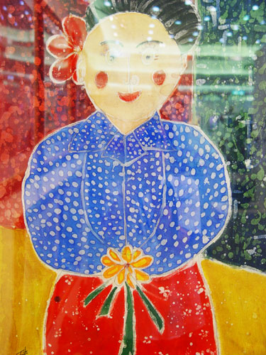 The Old Ladies from Bazi Village Painting - Hakka Aunt