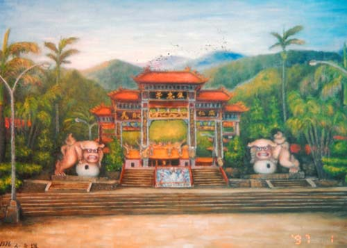 Yu Xiuxiong Oil painting works - temple