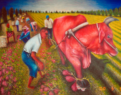 Yu Xiuxiong Oil painting works - Harvesting