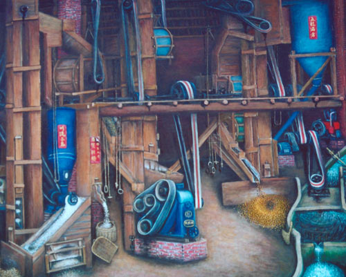 Yu Xiuxiong Oil painting works - Mill Valley Machinery House
