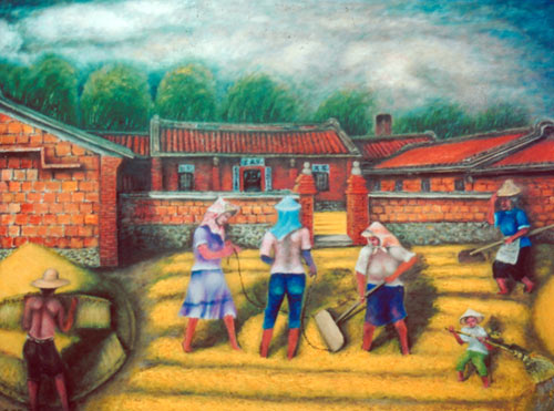 Yu Xiuxiong Oil painting works - show Valley